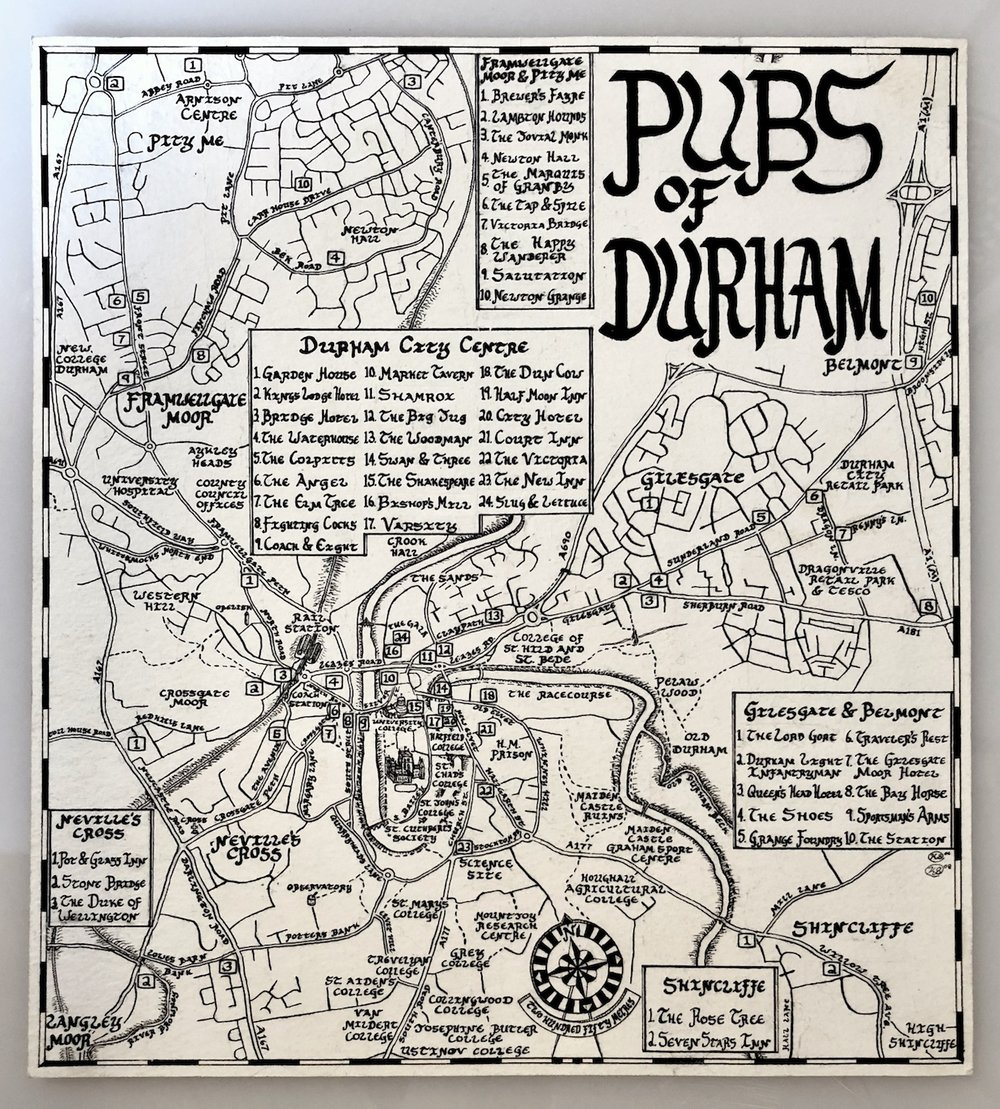 The first pub map of Durham, drawn in 2006