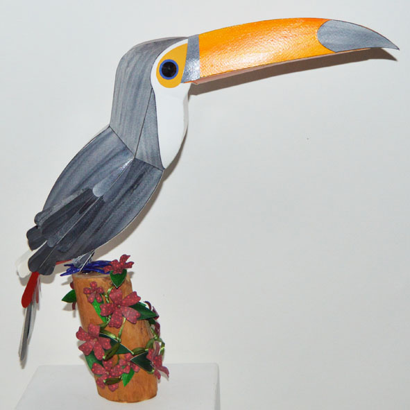 emilio the toco toucan on a floral plinth.jpg