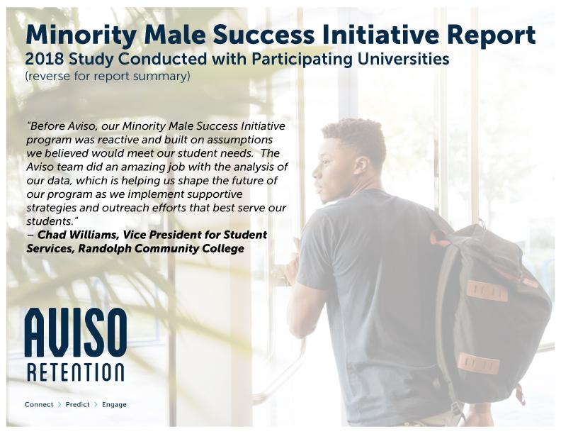 Minority Male Success Initiative Mmsi Report Pdf Download Aviso Retention