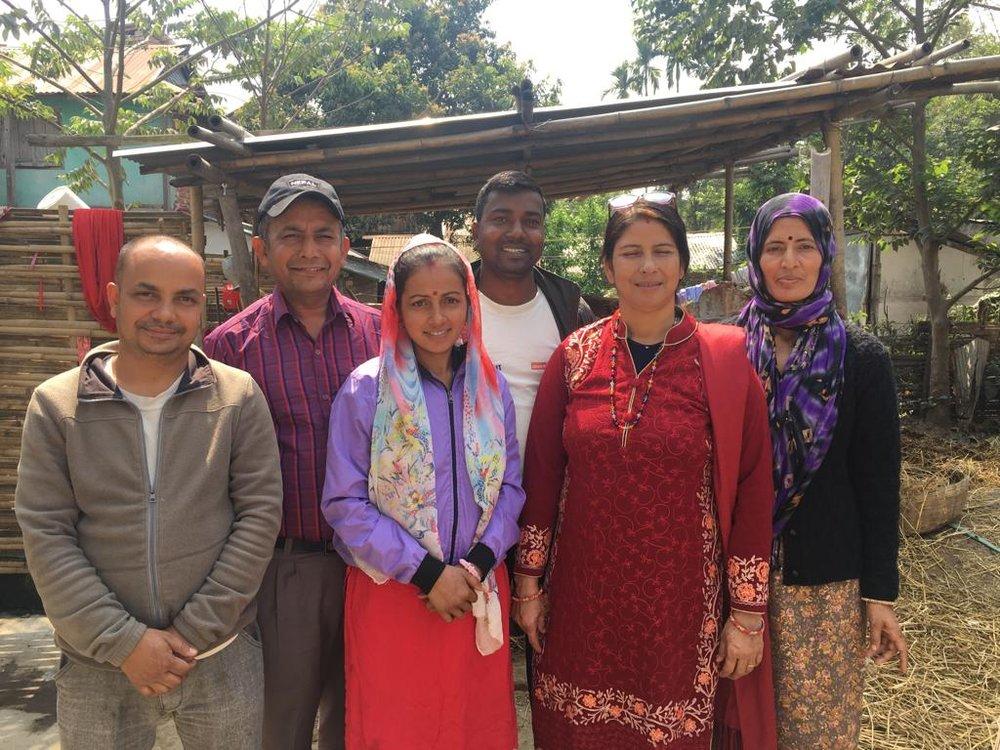 Development Nepal's UB Co-operative team in Nepal.  From L to R: Ram, Bhishma, Yogita, Umesh, Kalpana, Gita