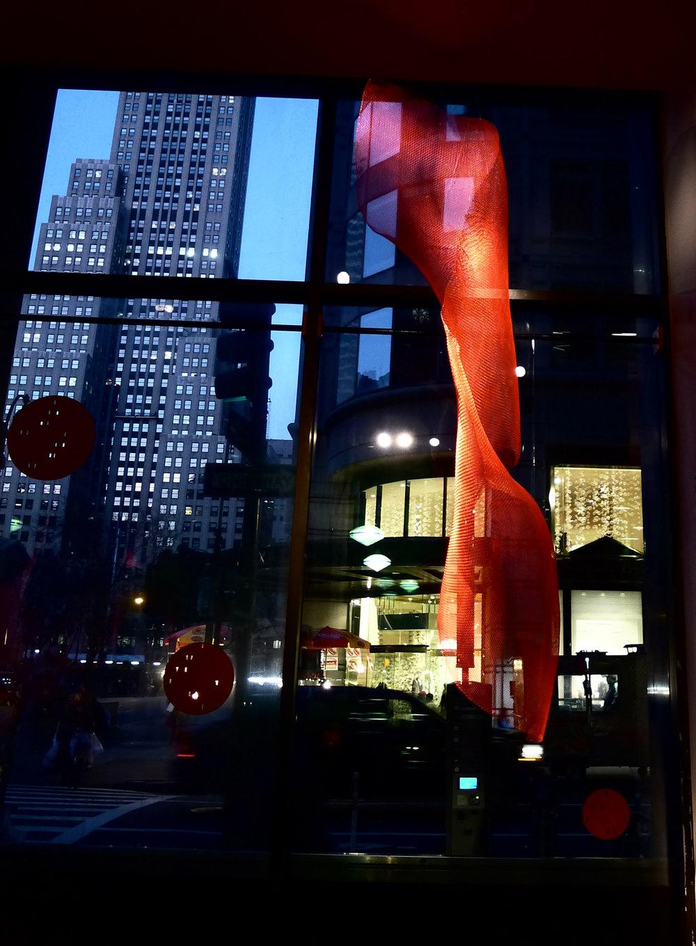 Sideways 3, New York Public Library Installation