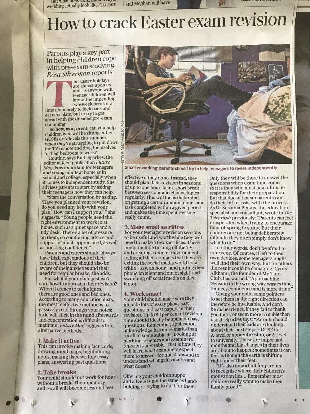 Future Mag in The Telegraph