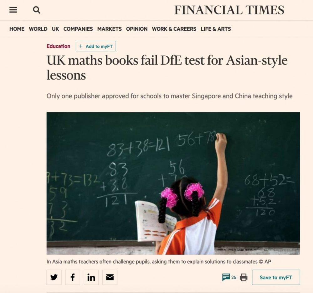 Financial Times: Maths No-Problem!