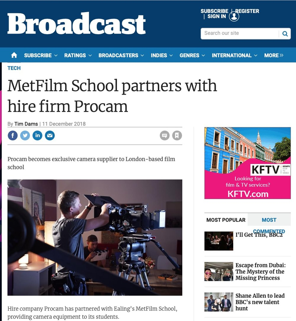 Broadcast: Metfilm School
