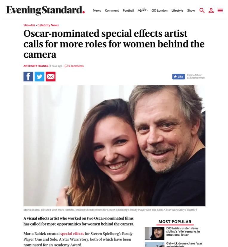 Evening Standard: Metfilm School