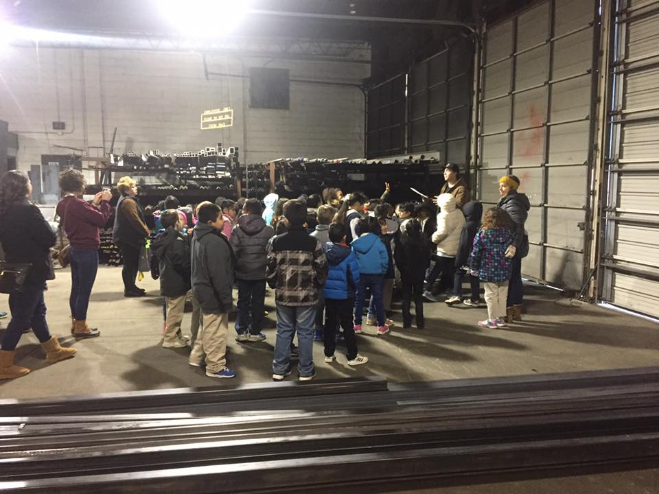 School Field Trips - Local charter schools visit to learn about entrepreneurship and the steel industry