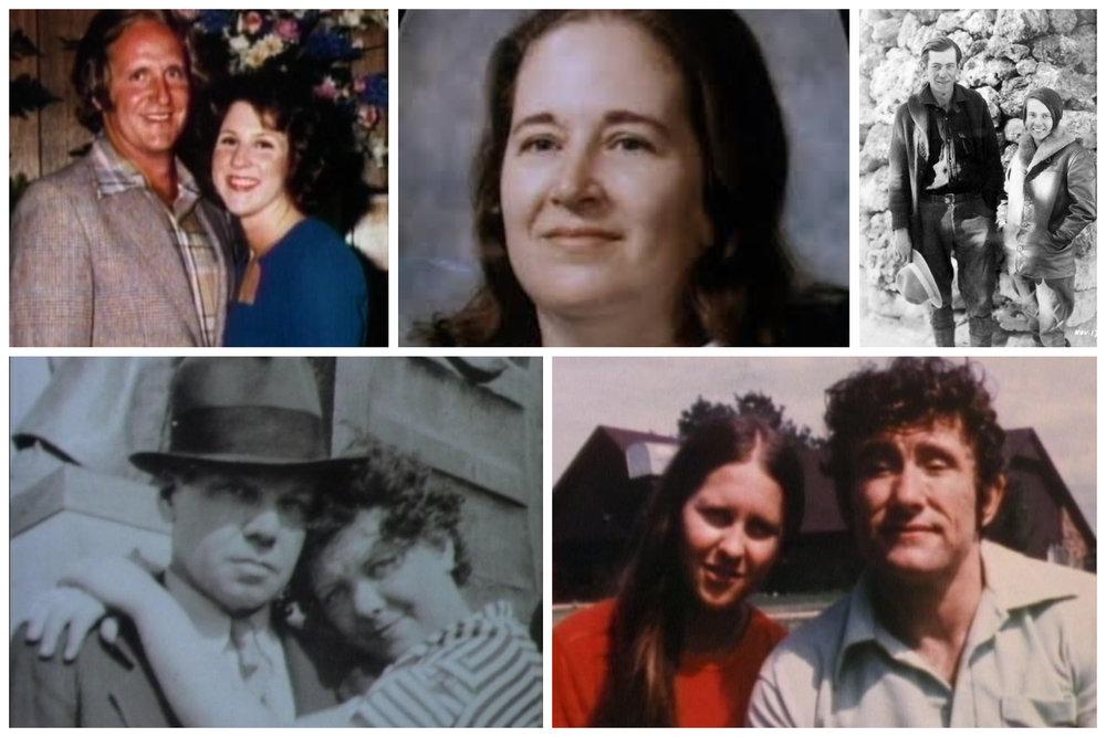 Top: Dave & Shannon Davis, Aileen Conway, Glen & Bessie Hyde Bottom: Glen Marsh, Dottie & Jule Caylor