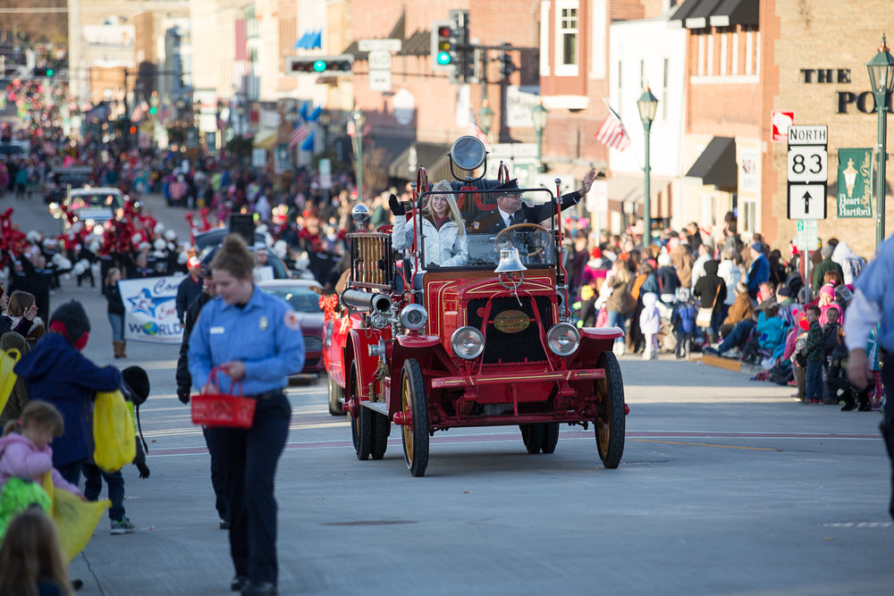 Parade in Downtown Hartford, Wisconsin
