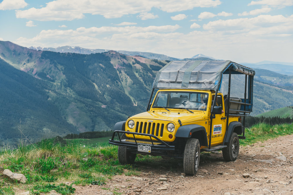 Blazing Adventures jeep tour is a half day guided adventure taking you through the aspen and pine and up to timberline meadows. Guides take you on a journey into the rich history of the Aspen Snowmass valley along with educating on wildflowers and key landmark mountains and ranges that can be seen for miles. If jeeping isn't your adventure of choice then there are half day hiking or mountain biking tours available.
