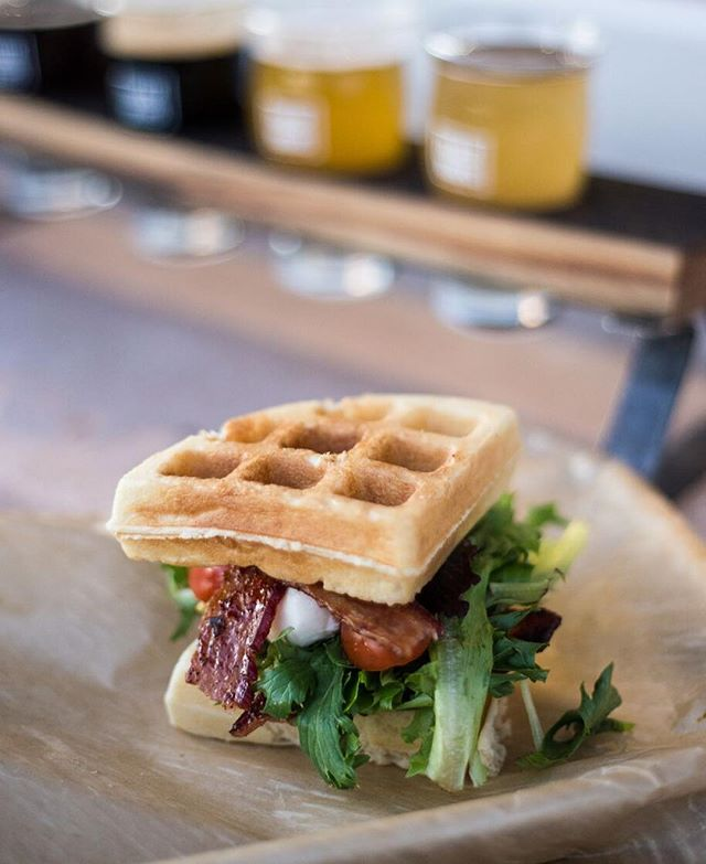 Chefs at Twelve Thirty-One Craft Kitchen are encouraged to innovate, tweaking classics like their BLT with fresh mozzarella, candied and spicy bacon in between two homemade waffles. See you all at the grand opening! Starting now till 11pm.