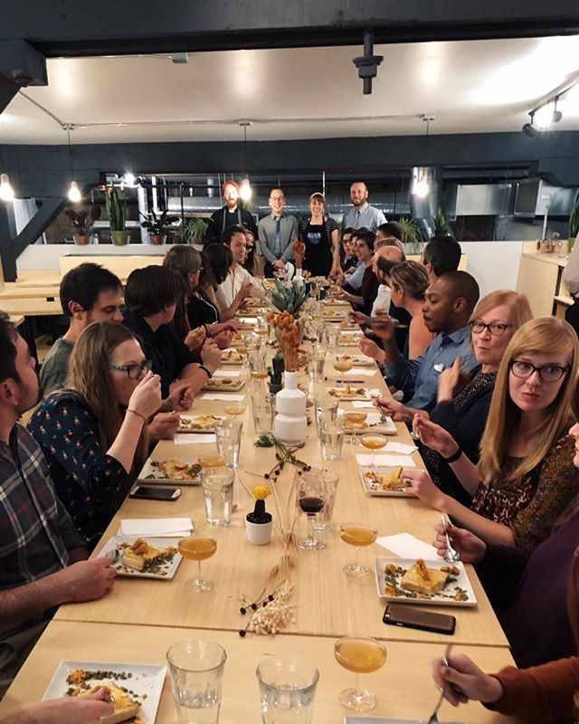 Cheers to a sold out High Desert dinner. @bonbon_bombardier @blankcoffeefood you did an outstanding job. Thank you to @axeandtheoak and @leespiritsco for providing the spirits. See you next month for a vegan coursed dinner!