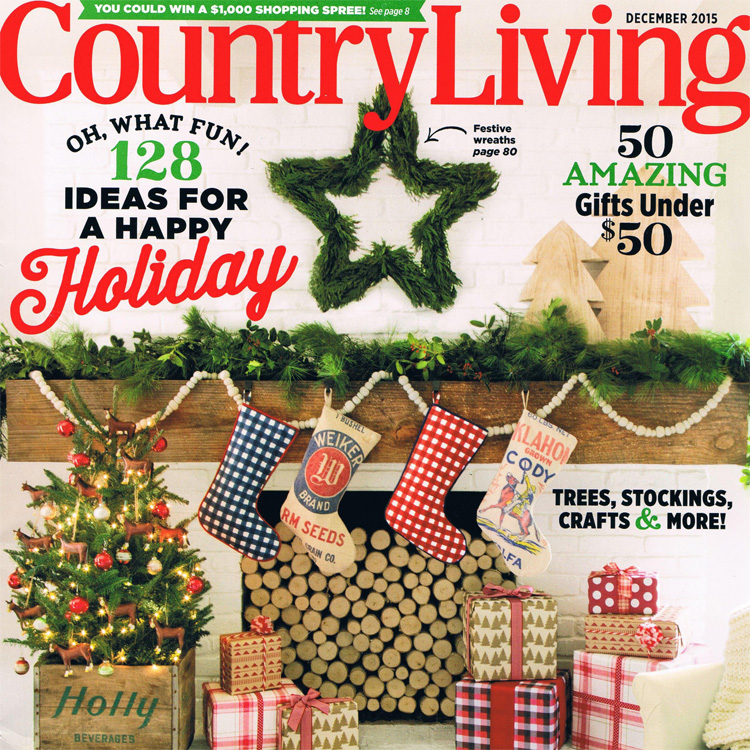 COUNTRY LIVING: 'A Merry and Bright Kitchen Makeover,' Dec. 2015