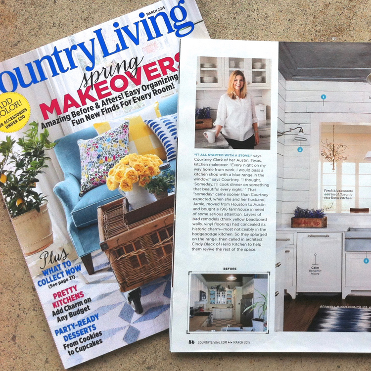 COUNTRY LIVING: 'Blue Ribbon Kitchen,' March 2015