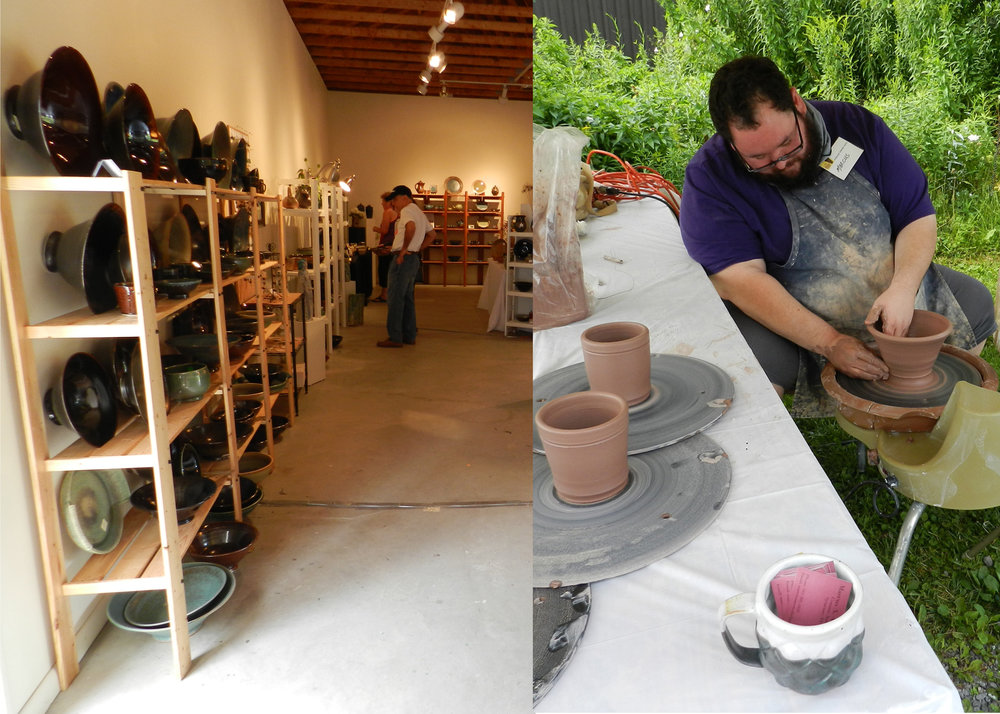Pottery Fair market place with demonstrations by participating artists