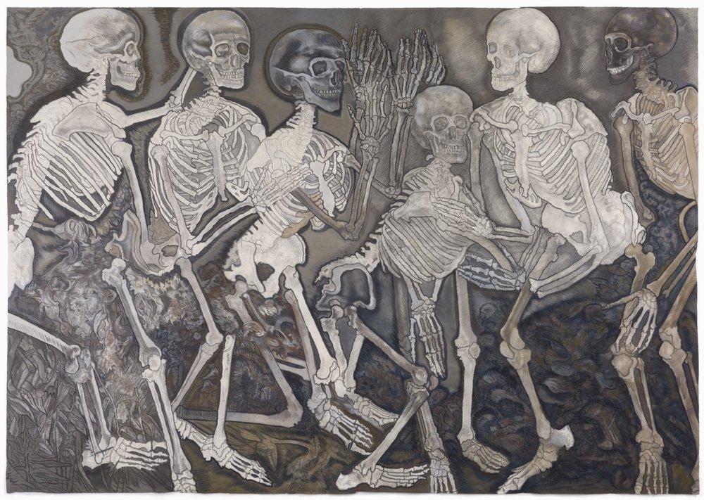 A Battle of Skeletons , after treatment.
