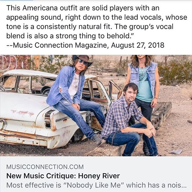 """This Americana outfit are solid players with an appealing sound,right down to the lead vocals, whose tone is a consistently natural fit. The groups vocal blend is also a strong thing to. Whole '  @music_connection #aug272018 @msopr #newmusiccritique #imissamerica #debutalbum #peacelove #americana #musiclovers #laband #california #honeyrivermusic #musicconnection #musicfans #listen 🎶☮️❤️ #musicquotes"