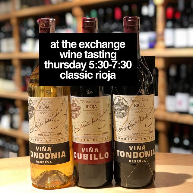 Pumped for the extra special edition of our Thursday wine tasting @eoexchange ... we will taste through three wines from Lopez di Heredia – including their rare white wine!  ____  We love the wines of this iconic Rioja producer. Founding father Don Rafael fell in love with the Rioja region in the mid 1800s. He recognized the unique terroir around the city of Haro, and this land became the foundation for the wines we know today. The family has its own cooperage on site and believes in long aging in their old American oak barrels. Their current releases are usually years behind neighboring wineries as they only release when they feel the wines are truly ready. While their reds are outstanding, it is perhaps their white and rosé that have become icons for their unique oxidative style.  ____  Per usual, our Thursday tasting is a drop in event from 5:30 to 7:30 and free with a suggested $5 donation to our community partner, which is @pethelperssc for the months of January and February. ❤️🐶🐱