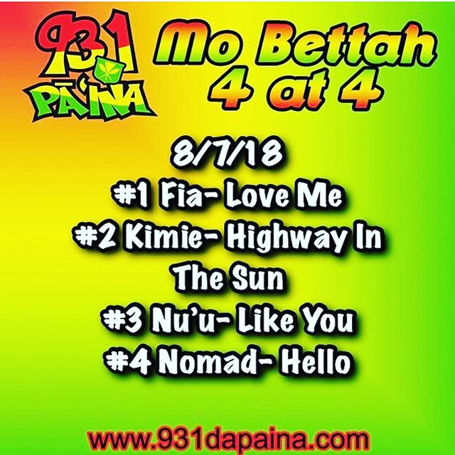"Thanks so much for the Love and Support it's so amazing to be on the MO BETTAH 4 at 4 charts at @931dapaina because of all of the fans that truly call in and request ""HELLO"" A very Special thank you to my Big bro @fiji for reminding me that all of this is possible is I keep my heart and soul in it!! Love you ALL!! #hello #nomadcrew"