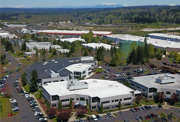 View of EOSPACE Inc. Located in Redmond, Washington.