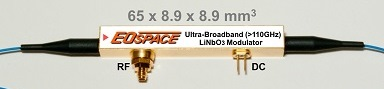 Ultra-wideband (DC→65GHz→110GHz+) modulator - Custom Specification