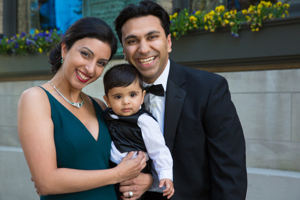 Raj, Sabrina and their son!