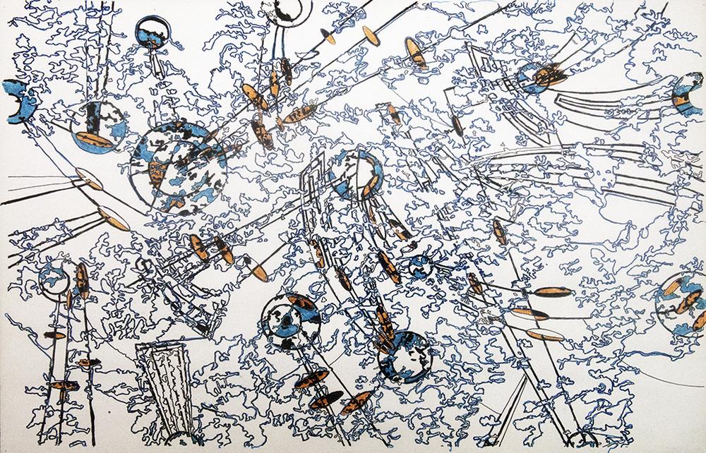 elliptical chaos in blue