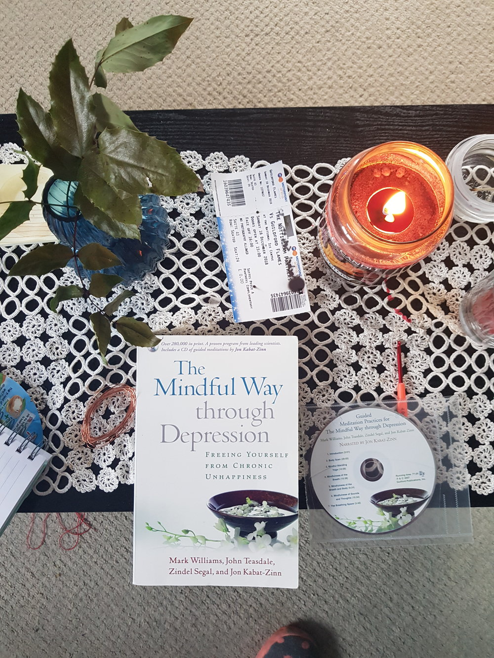"Image: ""The Mindful Way through Depression: Freeing Yourself from Chronic Unhappiness"" by Mark Williams, John Teasdale, Zindel Segar, and Jon Kahar-Zinn"