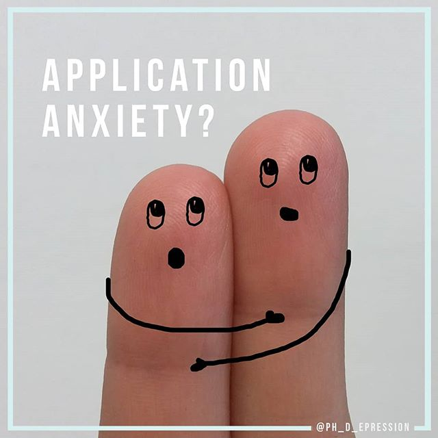 """When searching for an image for this post, these guys totally made me think of how many of my students are feeling right now. We're in the heart of grad school application season + anxiety is high.  Anxiety over whether you did enough work on your applications, if you applied to the *right* schools, if your letter writers really came through for you and more!  How about anxiety over multiple offers currently sitting on the table? If you're finishing up your master's, should you stay on at your same institution for your Ph.D.? You know a lot of folks, and if you've had a good experience, it probably feels like home. You might also be trying to get the hell outta there as fast as you can. #truth  We've got scholars visiting prospective grad schools all over the country, attending interviews and trying to decide what FEELS GOOD to them.  I spend a lot of time reassuring students that they have, in fact, done ENOUGH. And I'm guessing you have too. You wouldn't be the SCHOLAR YOU ARE without putting in the work.  So I'd like to encourage you to really sit with that thought for a few moments and acknowledge just how far you have come in this crazy journey of higher education. You are frickin' ah-mazing and we need to remind each other of that every single frickin' day.  YES!  But back to our anxiety at hand. Yes, it's REAL. And it's not simply a matter of turning it off.  Although wouldn't that be great?  I think the best we can do is try to BE OKAY WITH WHAT IS. Whatever your situation might be. Waiting on your top-choice program, feeling guilty because you're hanging on to an offer from a lesser tier program just in case, feeling you are """"taking someone else's spot"""" ... this always comes up ... rest assured this is all part of the process.  You likely have until April 15th to make your decision.  And despite your anxiety that you can try to TALK OUT with a friend, SWEAT OUT at the gym, or DISTRACT OUT with Netflix, know this: you are going to make the right decision.  R"""