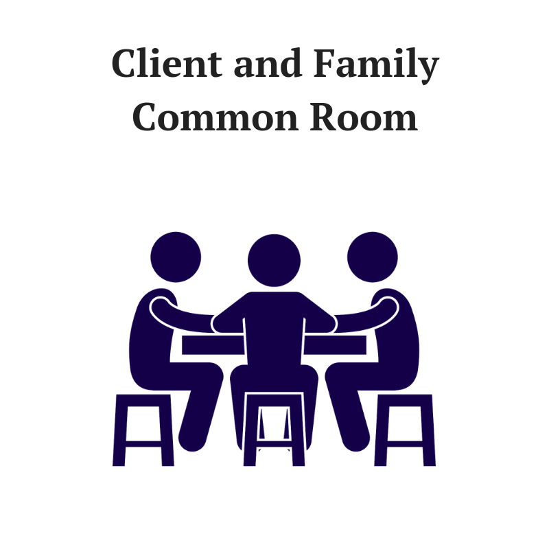 Provide a gathering space for conversation and group activities. Your name will be featured on a plaque on the outer door. Includes furniture, inspirational wall murals, arts and crafts supplies, TV, DVD player, and wellness/entertainment videos.  Naming Opportunity: $10,000