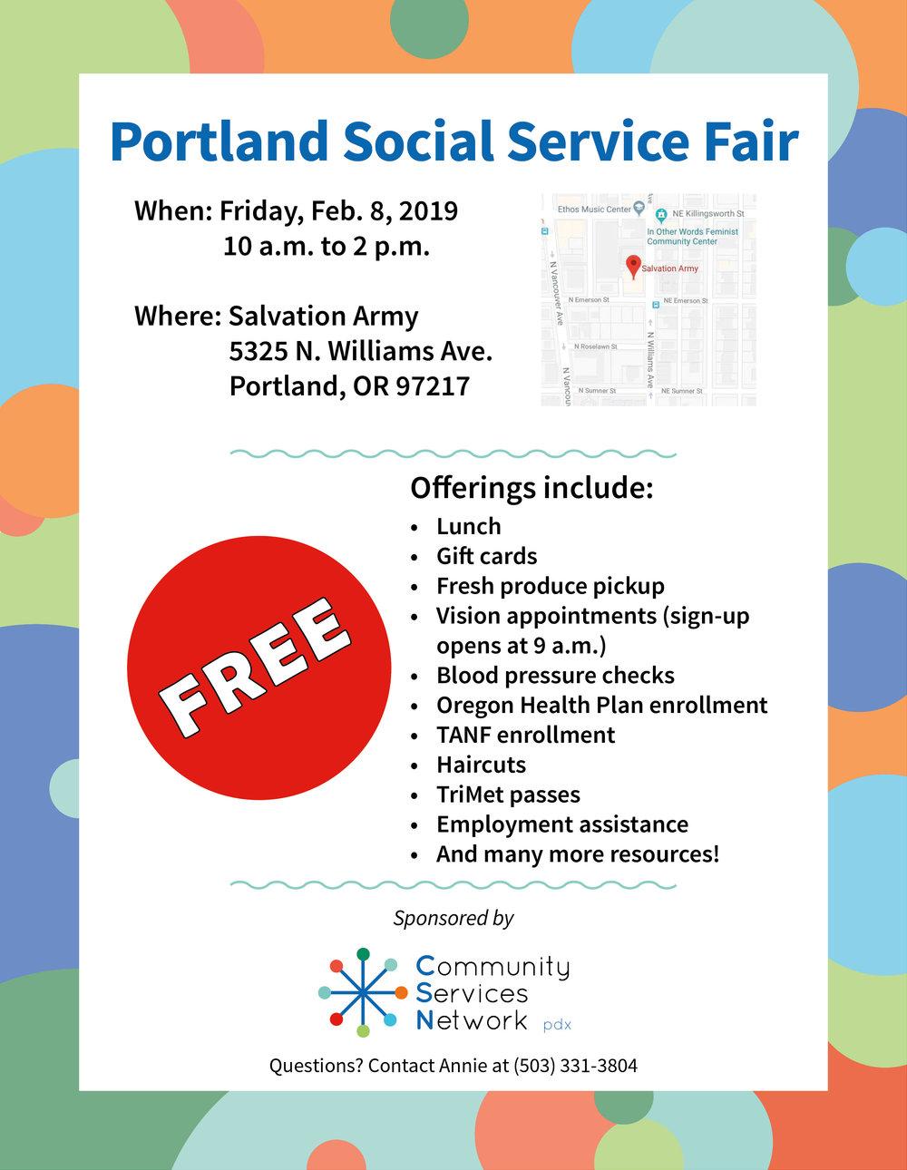 Social Service Fair #2 Flyer - 8.5x11 - Feb. 8, 2019 - print.jpg