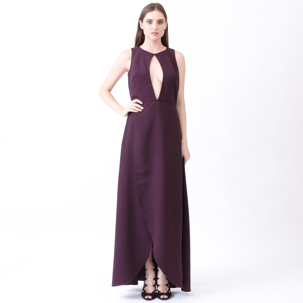 11a6cd5f51 Vestido com decote gota profundo — Camila Vitorino