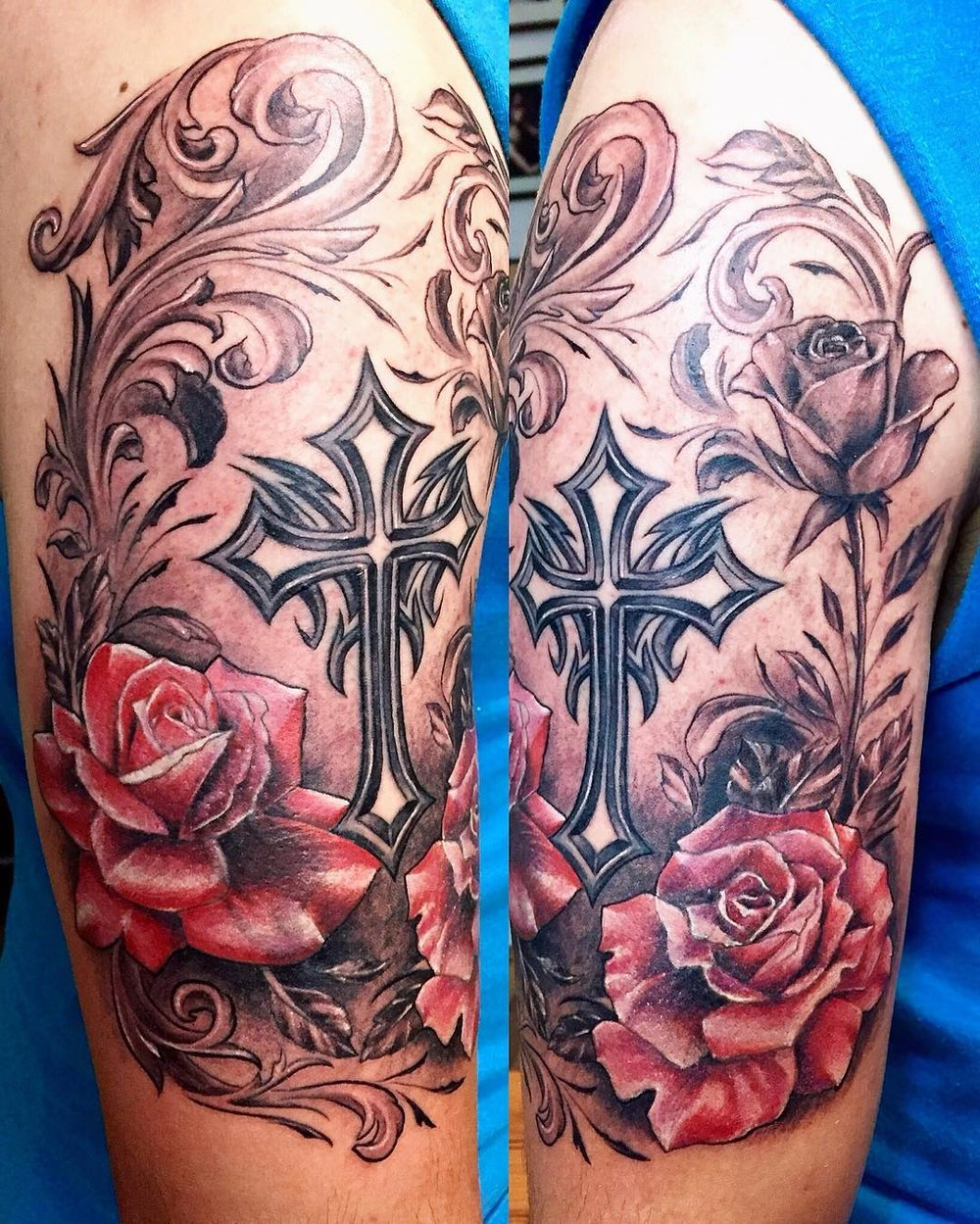 Redone_the_cross_I_did_seven_yrs_ago___and_added_some_roses_and_background_to_cover_up_rest_of_the_tribal_designs__.jpg