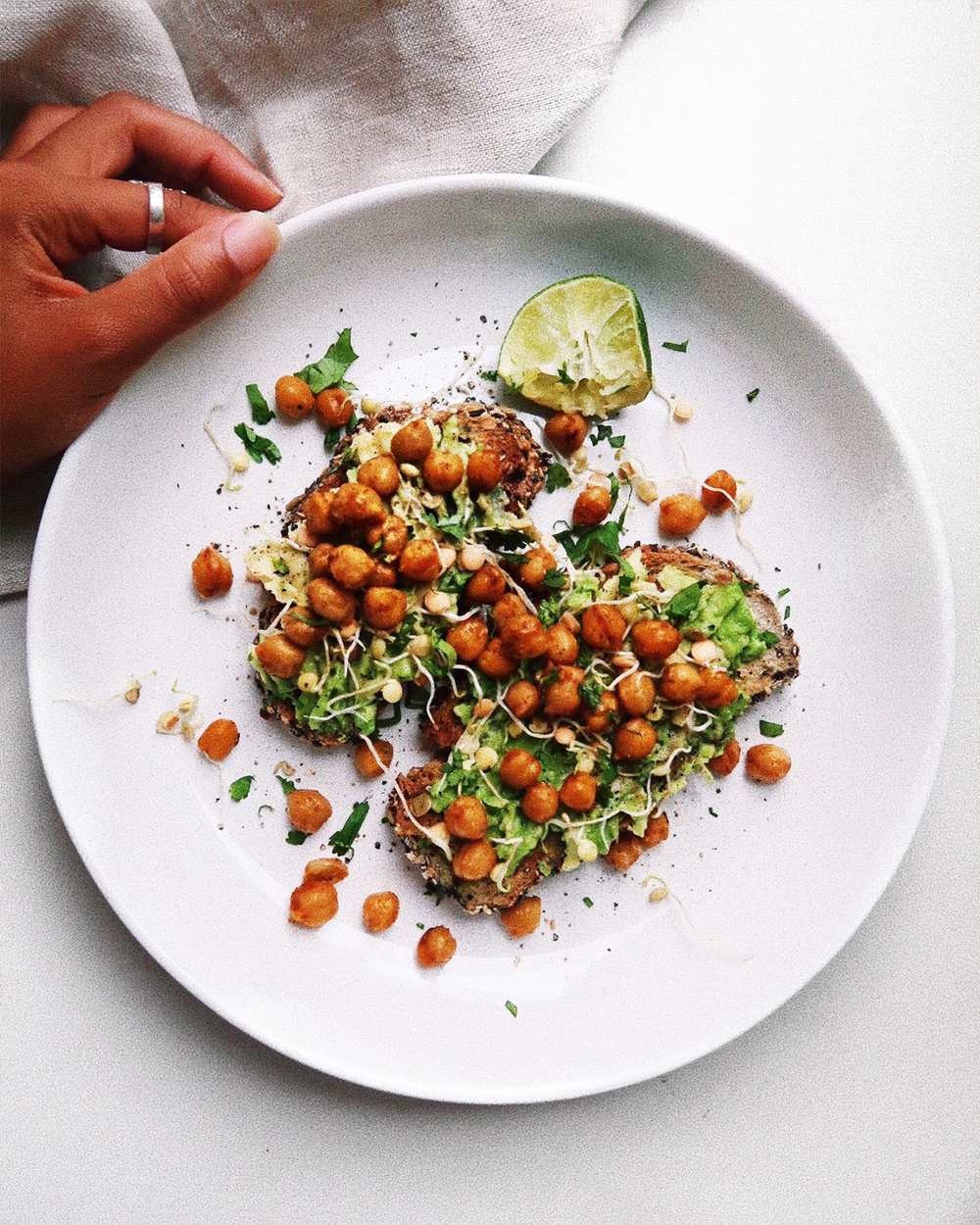 crispy chickpeas - quick & easy