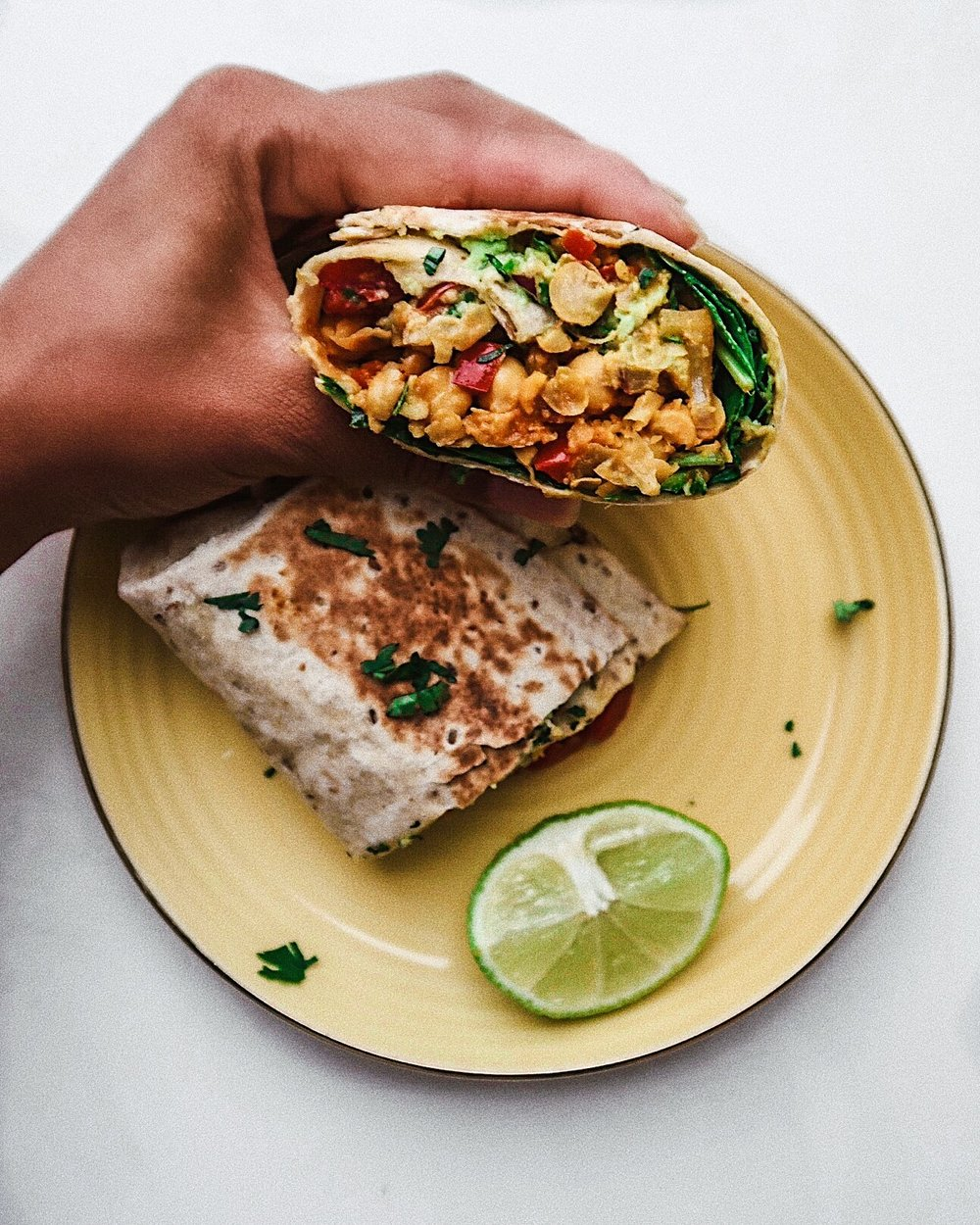 super tasty vegan breakfast burrito - #soyfreehunnieS!