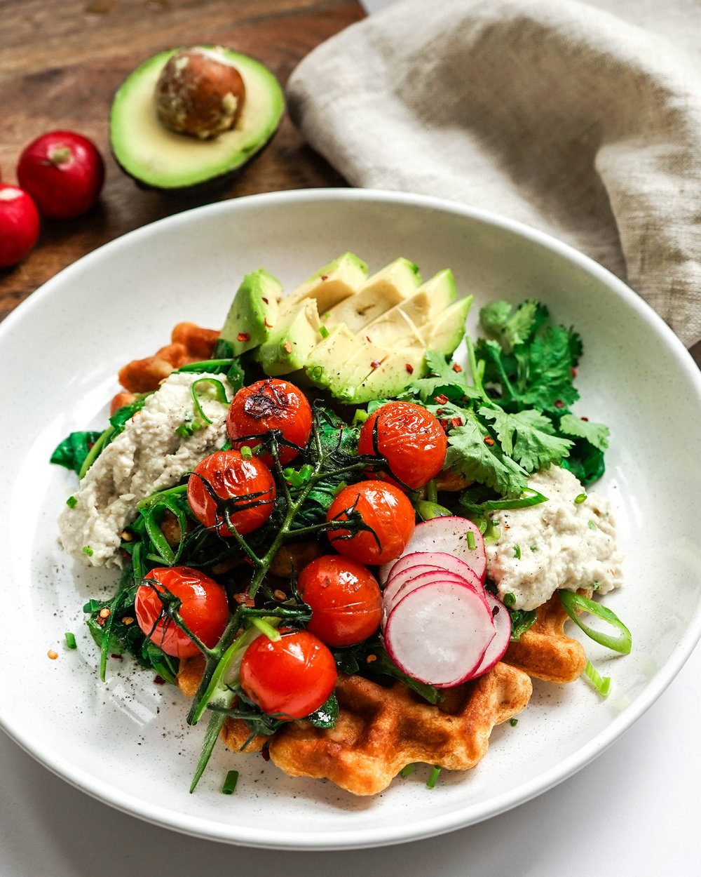 Vegan Sweet Potato Waffles - also perfet toasted the next day!