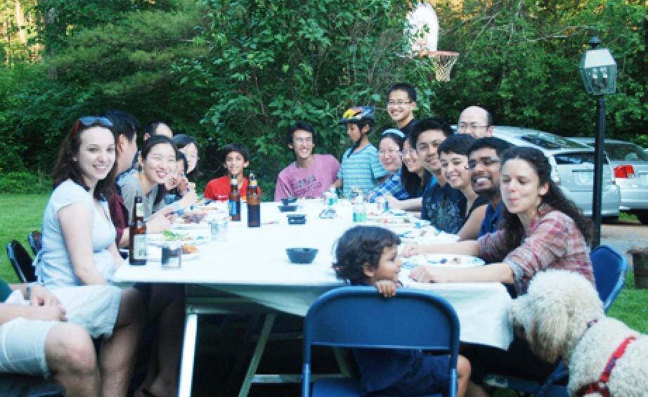 Dinner in Yashi's backyard