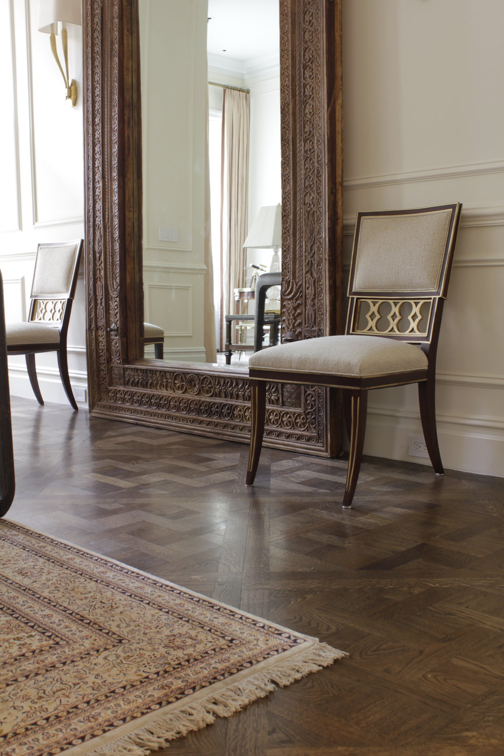 "PARQUET DE VERSAILLES IN ""MOSCOW BROWN""  - NYC UWS"