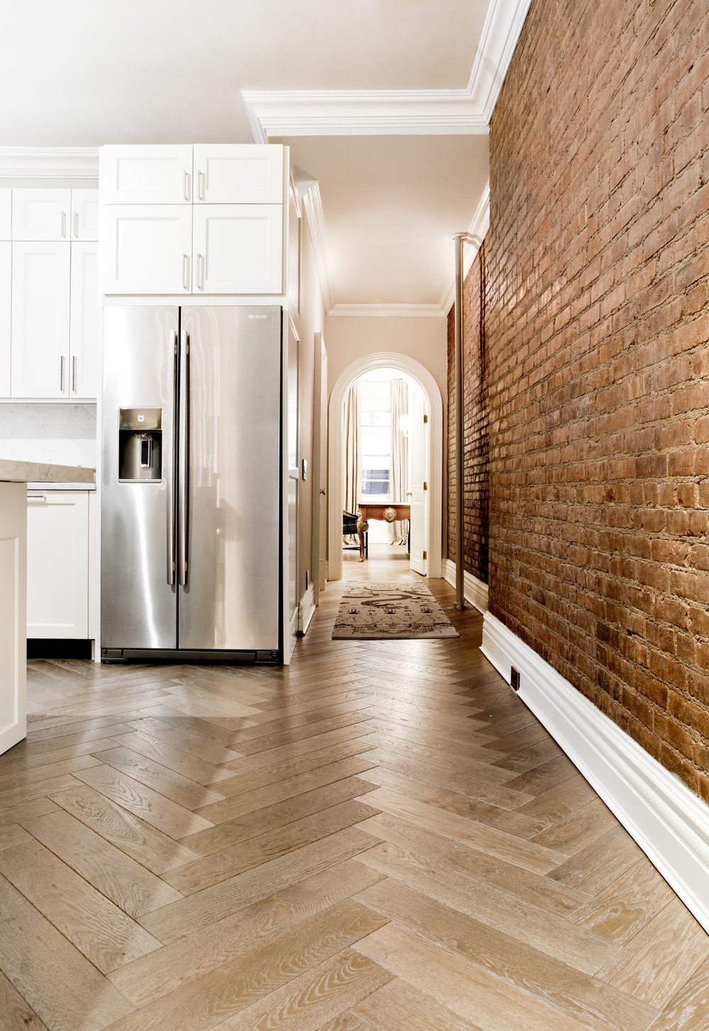 "HERRINGBONE IN ""LIGHT CHEMIN DE FER""  - NYC GREENWICH VILLAGE"