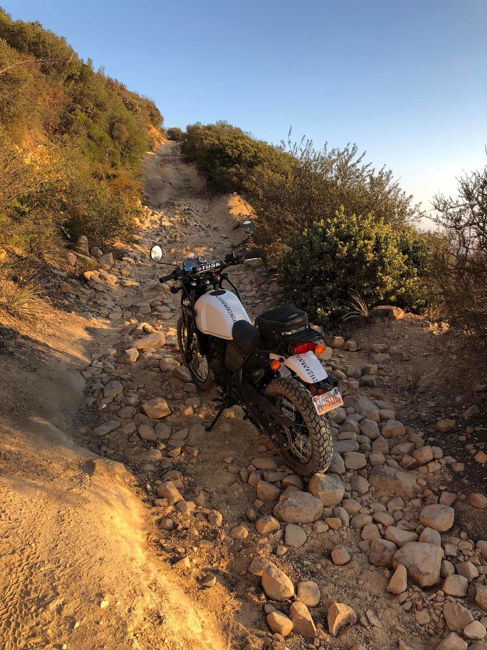 Here is the Royal Enfield Himalayan in the rough stuff. Photo:  @geomotoadv