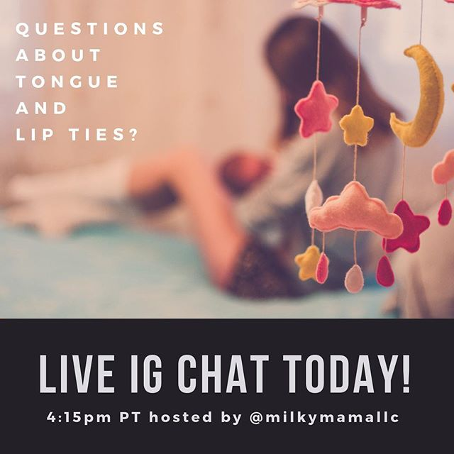 Questions about tongue and lip ties, how they affect breastfeeding, and how they can be treated? Dr. Thomas will be a guest on a special Live IG Chat Q&A with @milkymamallc at 4:15pm PT. See you there!
