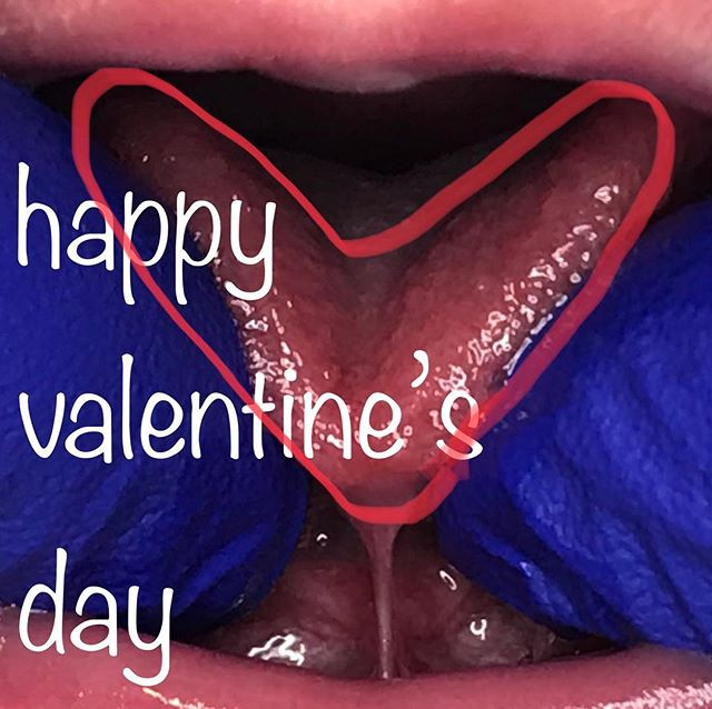 From one heart-shaped tongue to another #happyvalentinesday ❤️❤️👅👅❤️❤️👅👅❤️❤️