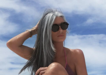My grey hair color muse: Annika VonHoldt
