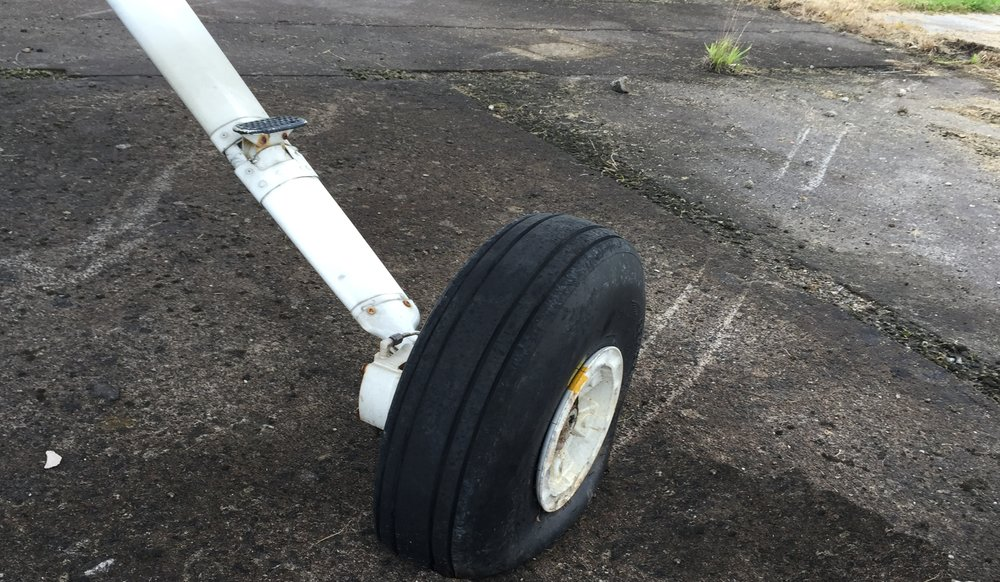 Runway Excursion Gear and Prop Damage: GA Aircraft