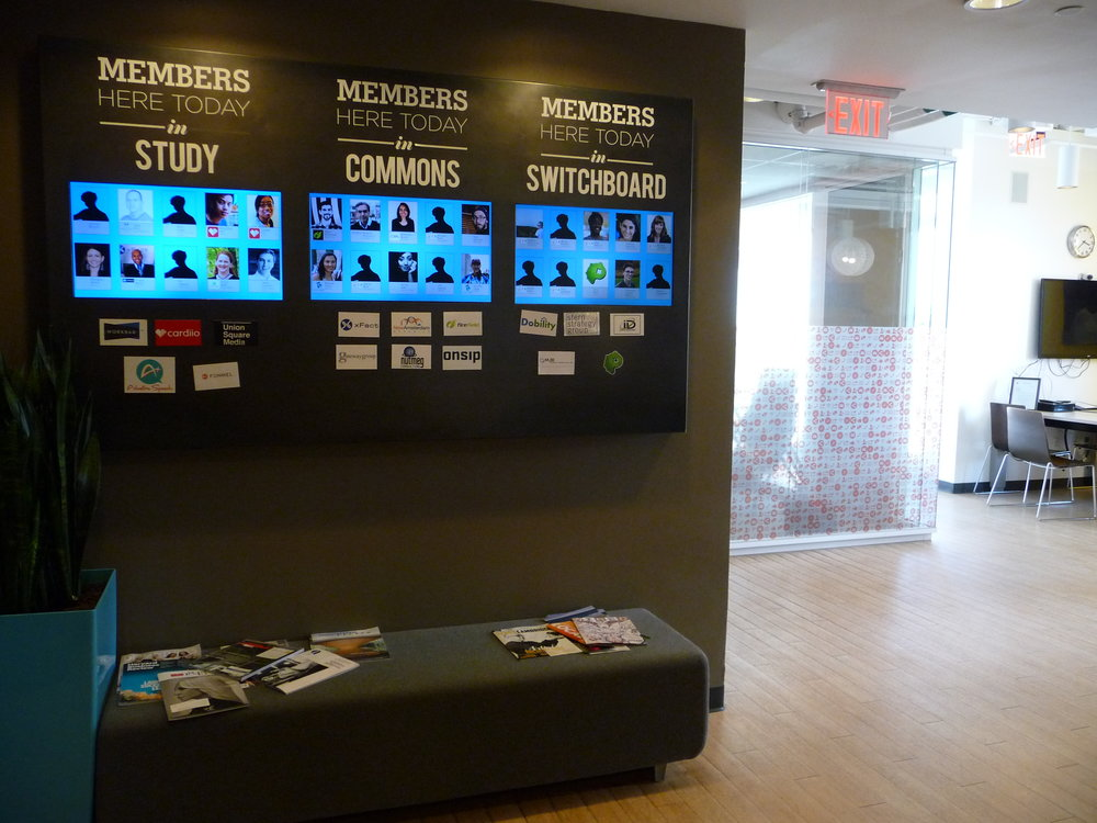 Workbar's workspace is divided into three zones: the no-conversation Study, the quiet-conversation Commons, and the phone-friendly Switchboard.