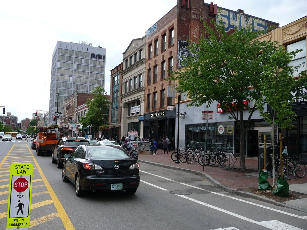 Workbar sits right in Central Square, a neighborhood with many eateries and small businesses. And the office is just steps away from the T, Boston's subway system.
