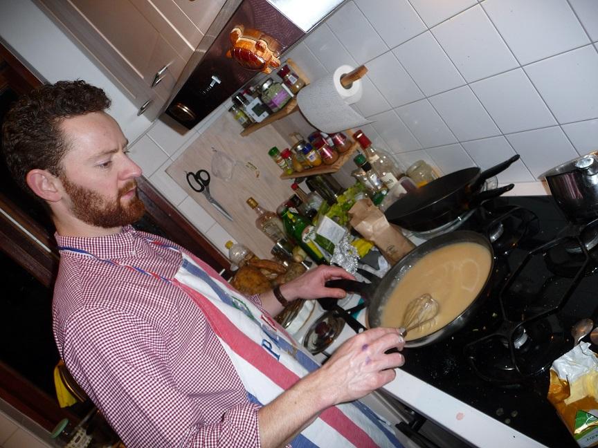 Preparing gravy