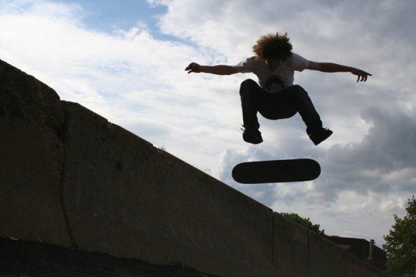 Skateboarding in teenage years