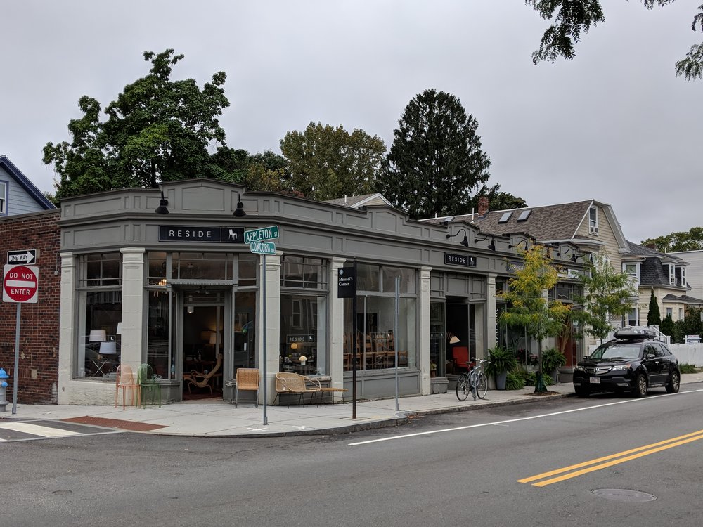 A high-end vintage home furnishing store across the street from BUILT.