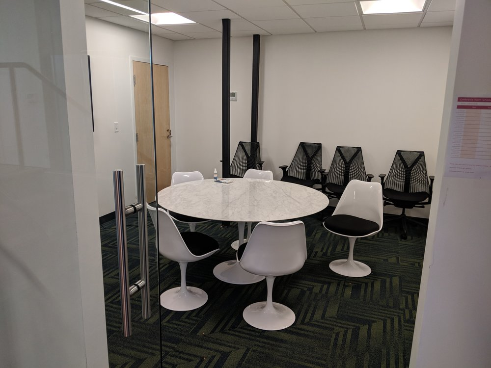 One of BUILT's three conference rooms.