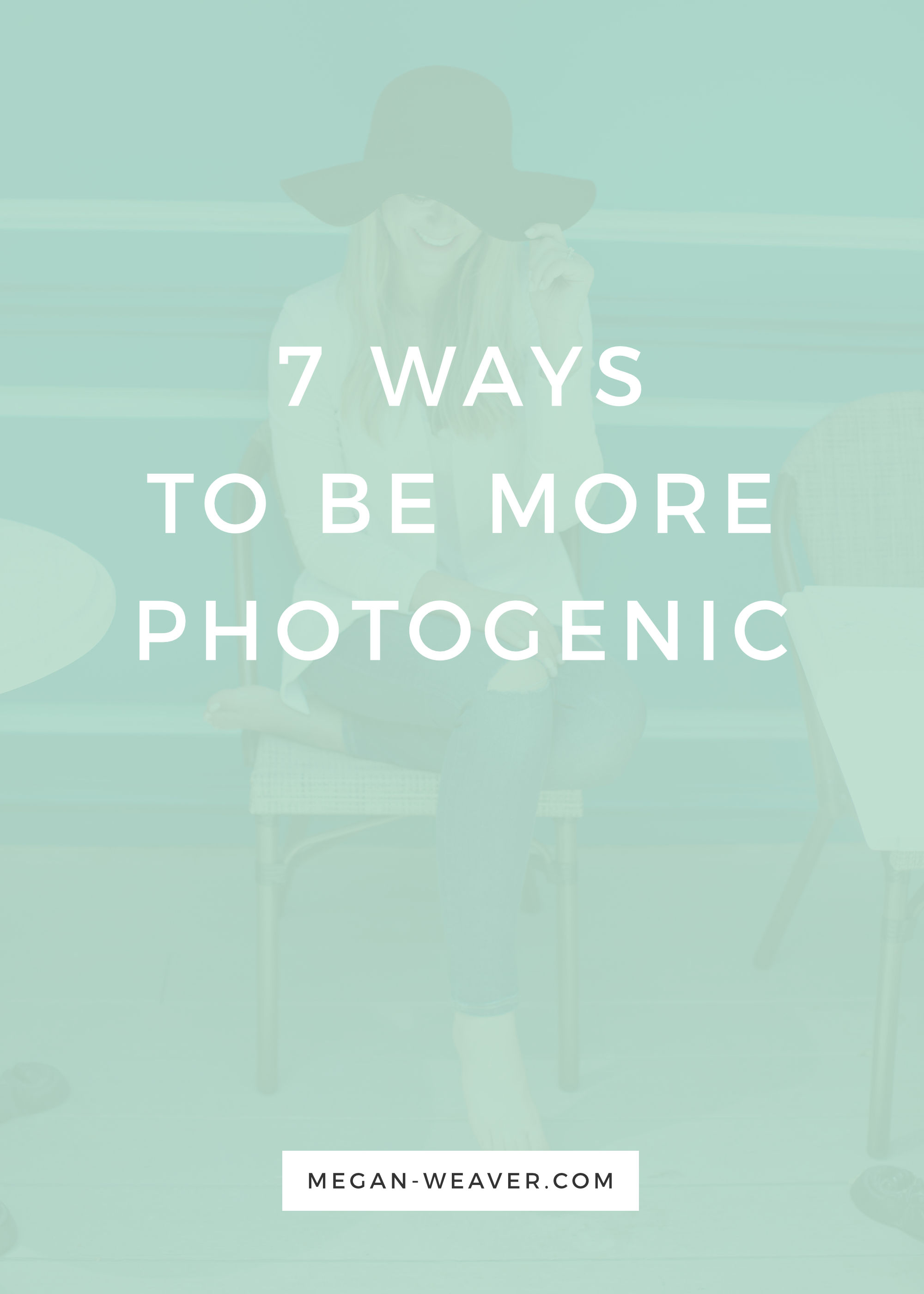 Being able to take a good photo has so much more to do with confidence than anything else. But in case you need a hand, click here for 7 ways to be more photogenic in your blog shoots!